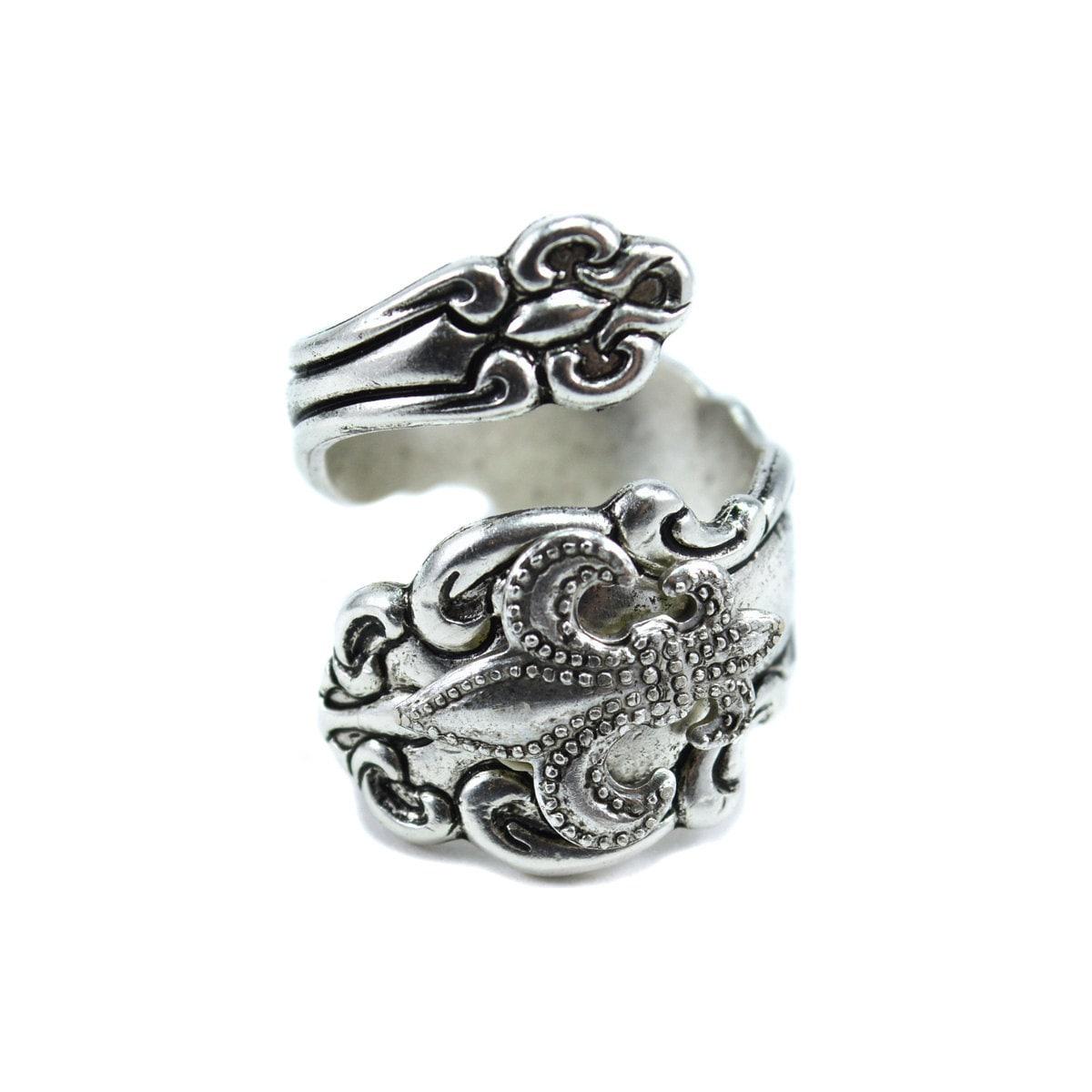 fleur de lis spoon ring silver spoon rings new orleans