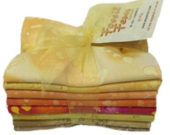 Sunset - Fossil Fern FQ Fabric Bundle of 8 - Total 2 yards