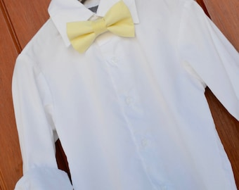 David's Bridal Canary Yellow Bowtie and Suspender Set, Little Boy Canary Bowtie, Canary Yellow suspender, David's Bridal Canary outfit