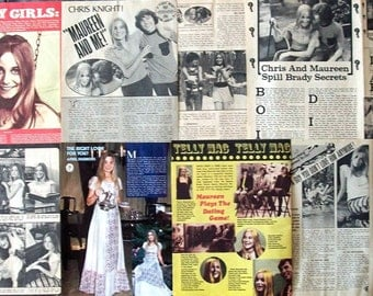 MAUREEN MCCORMICK ~ The Brady Bunch, The Brady Brides, Teen Angel, Marcia Brady ~ Color and B&W Articles from 1971-1974