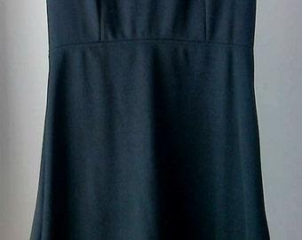 Vintage 1960's Mod Dress Size 6 by EV Fashions-100% Polyester-Black-Yellow-White