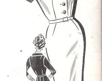 "Vintage 1960's Mary Dunbar Mail Order 8145 Slim Shirtwaist Dress Sewing Pattern Size 34 Bust 36"" UNCUT"