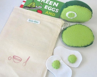Dr Seuss, Green Eggs and Ham, Felt Food Reading Aid, Storytime Book