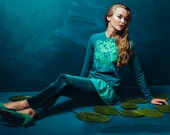 Emerald iriss - Sweatshirt with frill / Cotton sweatshirt