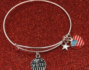 Vote Charm Bracelet