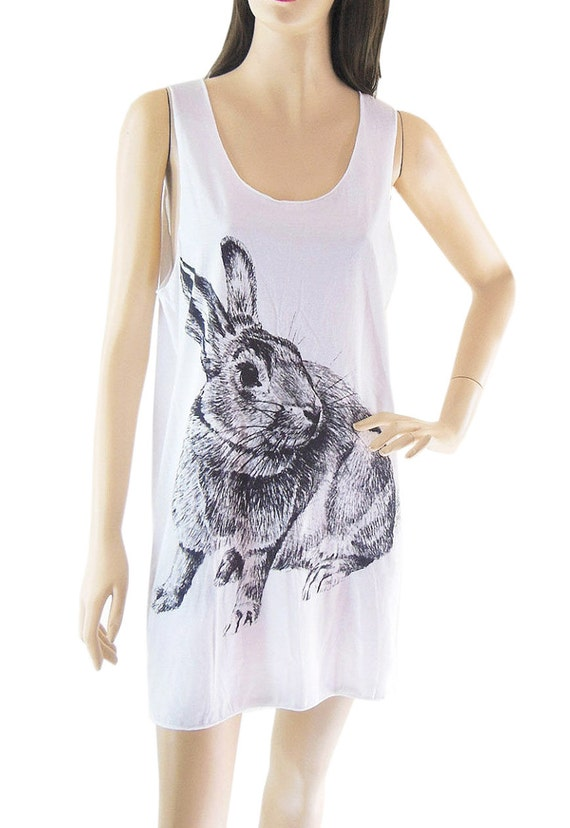Rabbit tank top bunny tank top rabbit shirt bunny shirt women tank top size M