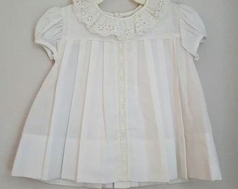 Vintage C.I. Castro and Co. White Dress with Lace- Size 24 months- New, never worn