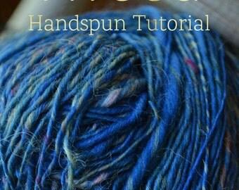 SPIN Spinning Recipe - Tweed - Roving (Combed Top) Tutorial - Handspinning Pattern