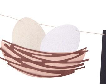 Bird Nest Baby Shower Banner - Nesting Baby Shower - Nest Baby Shower - Egg Baby Shower - Neutral Baby Shower - Bird Baby Shower -
