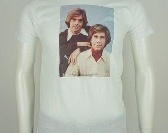 Vintage The Hardy Boys 1977 Pop Culture Iron On T-Shirt size Medium
