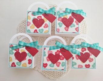Valentine mini gift bags set of 5
