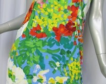 JAMS WORLD Dress Top Set Size Small 7 Multi-color Floral Jubilee Crinkle Rayon