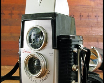 Kodak Brownie Starflex Camera with Flash Attachment