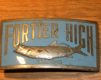 Fortier High Tarpons Belt Buckle Uptown New Orleans
