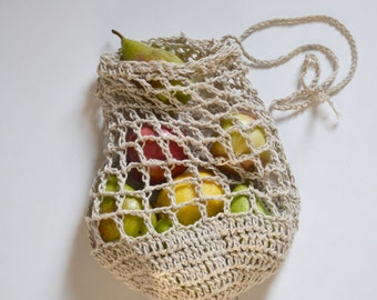 Market Tote, Reusable Grocery bags, , Crochet fruit and veggie bag, gift, Farmers Market Bag, eco friendly cotton bag