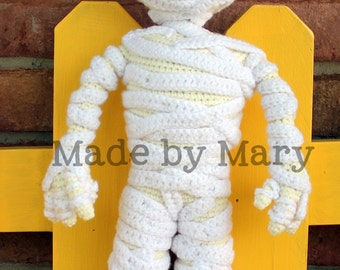 PDF PATTERN: Morris the Mummy *Crochet Pattern Only, Not Actual Doll*