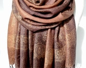 Brown Scarf Shawl. Copper Scarf. Birthday Gift for Her. Soft Smooth Winter Shawl, Pashmina. Woman scarf. Sister Gift. 27x71in Ready2Ship