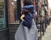 hobo bag, canvas bag, gray bag, slouchy bag, gray shoulder bag, large handbag, xxl shoulder hobo, capacious bag, boho bag, casual gray bag
