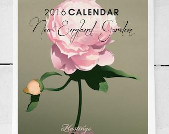 2016 Floral Wall Calendar