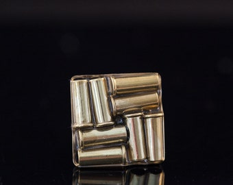 """Bullet Casting Adjustable Cocktail Ring-""""Bullets Over Broadway""""--Free U.S. Shipping"""