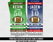 FOOTBALL TICKET INVITATIONS Birthday Party - Any Color, Any Age - (print your own) Personalized Printable Files