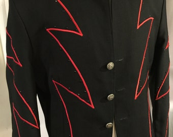 Men's custom black and red bolero - 44