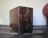 Vintage Box Antique Surveyors Box Carpenters Box Old Wooden Box
