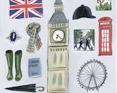 London Calling Illustration Print