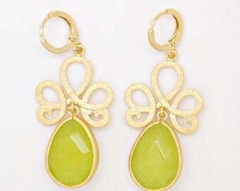 Delicate earrings - Lime