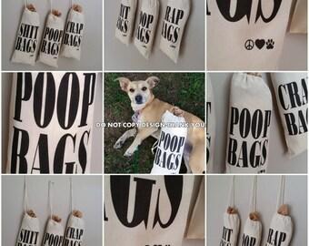 Dog Poop Plastic Bag Dispenser Tote Holds Plastic Poop Bags