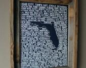 Beers of Florida Word Map (Dark Blue)