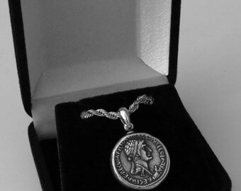 Famous Roman Collection, #3S, MARC Antony and CLEOPATRA, Most Famous Romance, Pendant with Optional Chain