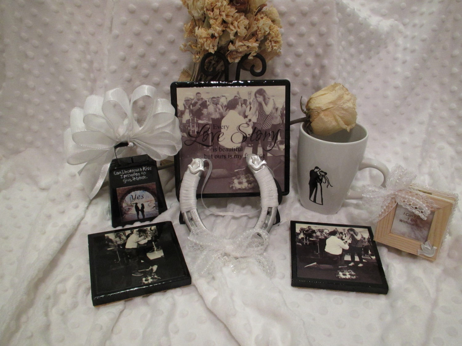 Wedding Gift Item: Engagement Wedding Gift Basket Items Custom Plaque 2