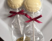 12 Chocolate Water Polo Ball Lollipops Sports Banquet Candy Favors