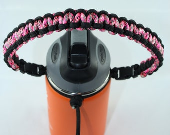 Black & Pink Camo Color Paracord Handle