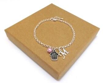 Cupcake Necklace or Cupcake Bracelet, Baking Necklace, Baking Bracelet, Cupcake Jewellery, Gift for Baker, Cupcake Jewelry, Baking Gift