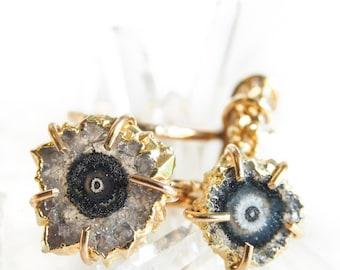 Kakahi ring -  gold stalactite ring, gold ring, druzy ring, mineral ring, gemstone ring, gold druzy ring, hawaii jewelry, druzy jewelry