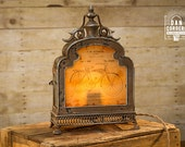 Vintage Bicycle Patent Lantern Table Lamp