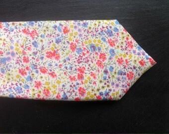 Handmade Skinny tie Liberty fabric