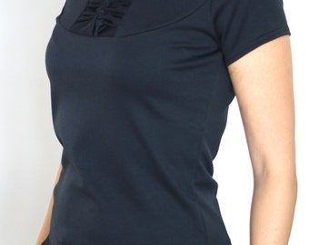 SALE! Last piece! T-Shirt, Top, perfect black shirt, jersey, womens shirt, ladies shirt