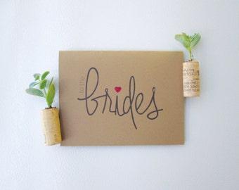 To The Brides - Handmade Wedding Congrats Card