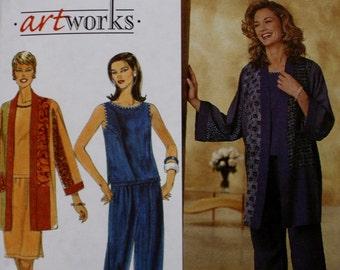 Top /Jacket / Pants / Skirt / Simplicity 8661 Sewing Pattern / Bust 34-36-38 / Uncut