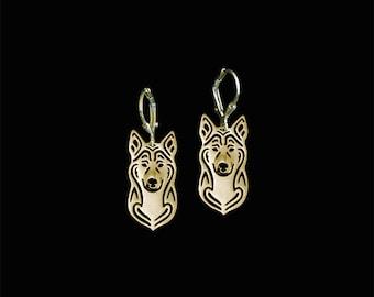 Canaan dog earrings - Gold