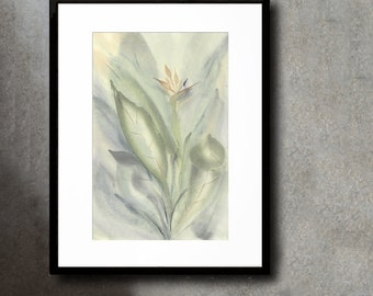 Bird of Paradise Original Fine Art Chinese Brush Painting