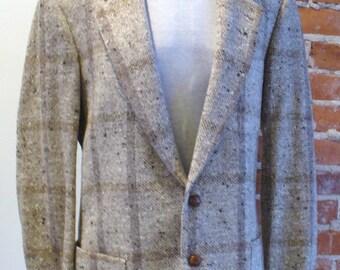 Vintage Oatmeal Tweed Sport Coat Made in Italy