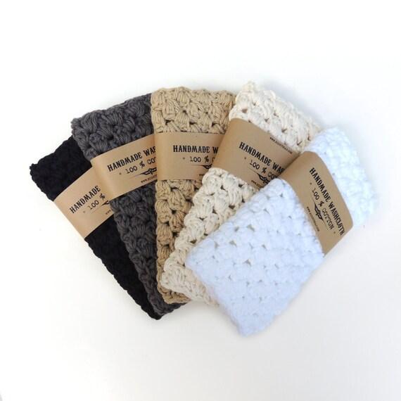 Cotton washcloth, gifts for men, crochet washcloth, crochet wash cloth, bath grooming, washcloth for men