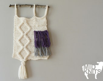 """DIY Knitting PATTERN - Cable Knit Wall Hanging  Size: 9"""" x 29"""" (2015016)"""