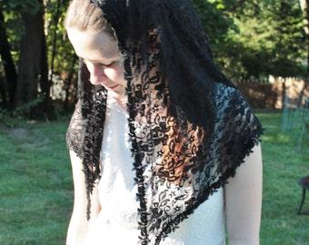 Chapel Veil / Mantilla/ Headcovering / Veiling / Church Veil / BL. Maria Teresa Ferragud Veil.