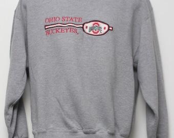 "Rare 90's Vintage ""OHIO STATE BUCKEYES"" Sweatshirt Sz: Large (Exclusive)"