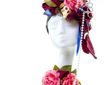 CURANDERA - Day Of The Dead Couture headpiece/Headdress